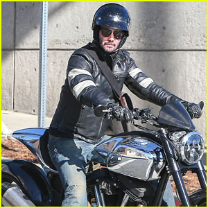 Keanu Reeves Starts His New Year with a Ride on His Motorcycle