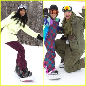 Chanel Iman & Kellan Lutz Learn To Ride With CoachArt At Sundance 2015
