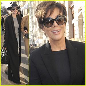 Kendall Jenner & Mom Kris Shop At YSL Ahead Of Paris Fashion Week