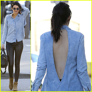 Kendall Jenner's Backless Denim Button Down is Totally On Point