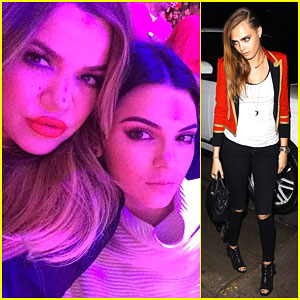 Kendall Jenner & Khloe Kardashian Jokingly Rename Cara Delevingne
