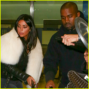 Kim Kardashian & Kanye West Fly the Skies to NYC Together