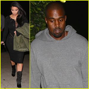 Kim Kardashian & Kanye West Make It A Date Night in Santa Monica!