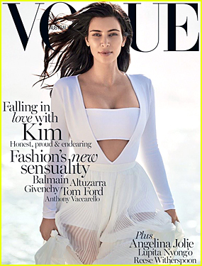 Kim Kardashian is Sensual & Sexy For 'Vogue Australia' February 2015 Cover