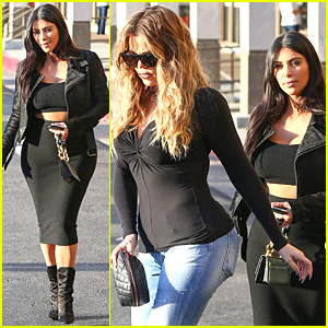 Kim & Khloe Kardashian Discuss Growing Family Empire Over Lunch