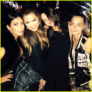 Kim & Khloe Kardashian Sing Their Hearts Out at Sam Smith Concert with Kendall Jenner & Cara Delevingne