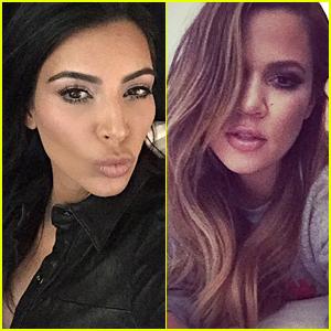 Kim & Khloe Kardashian Take Over Rob's Instagram - See Their Pics!