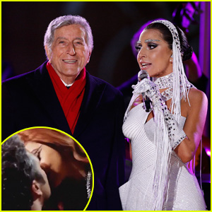 Lady Gaga Plants Kiss on Taylor Kinney at Midnight on NYE!