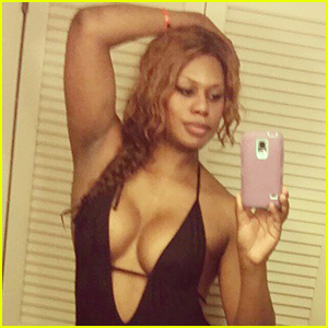 Laverne Cox Flaunts Hot Bikini Body During Beach Holiday Vacation