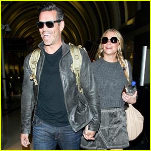 LeAnn Rimes & Eddie Cibrian Look Elated After Their Flight Home