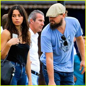 Leonardo DiCaprio Hangs with Pretty Brunette After Beach Day