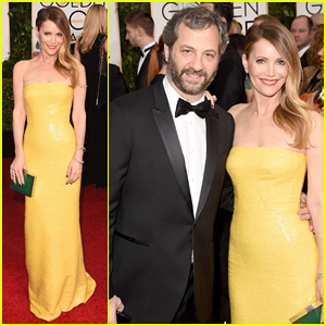 Leslie Mann & Judd Apatow Make The Cutest Duo at the Golden Globes 2015!