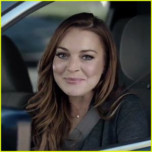 Lindsay Lohan Goes Driving in Super Bowl Commercial Teaser