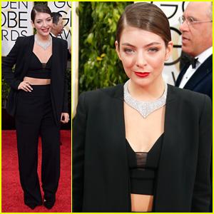 Lorde Dons Slick Black Pantsuit for Golden Globes 2015
