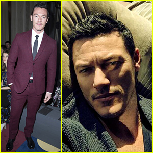 Luke Evans Shares a Totally Swoon-Worthy Selfie