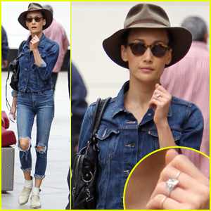 Maggie Q Shows Off Engagement Ring for the First Time!