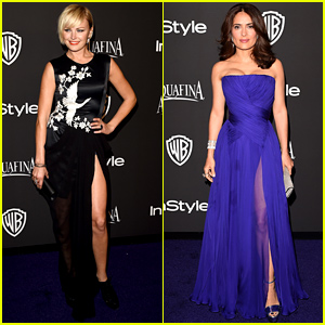 Malin Akerman & Salma Hayek Show Off Their Legs at the InStyle Golden Globes 2015 After Party