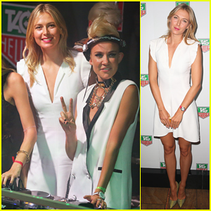 Maria Sharapova Gets Her First DJ Lesson at TAG Heuer Party with Nervo!