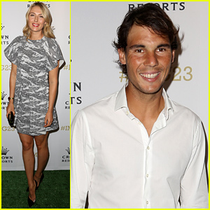 Tennis Pros Maria Sharapova & Rafael Nadal Party Before Their Big Tournament Games!