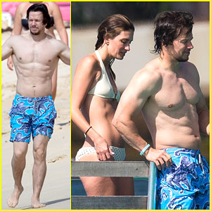 Mark Wahlberg Shows Off His Six-Pack Abs Again During Tropical Vacation