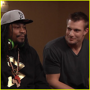 Super Bowl Players Marshawn Lynch & Rob Gronkowski Face Off in 'Mortal Kombat X' on 'Conan' - Watch Now!