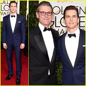 Matt Bomer & His Husband Simon Halls Walk the Red Carpet at the Golden Globes 2015!