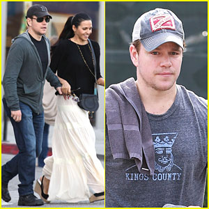 Matt Damon & His Wife Luciana Barroso Look So In Love Grabbing Dinner