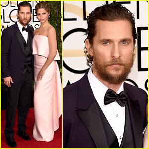 Matthew McConaughey Keeps His Bushy Beard for the Golden Globes 2015