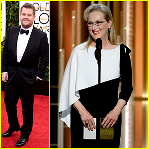 Meryl Streep & James Cordon Went 'Into the Woods' for Golden Globes 2015