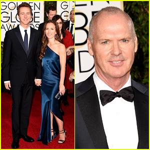 Birdman's Michael Keaton & Edward Norton Take on Golden Globes 2015!