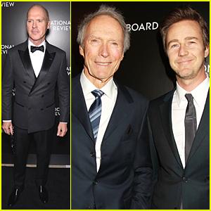 Michael Keaton & Edward Norton Win at NBR Gala for 'Birdman'!