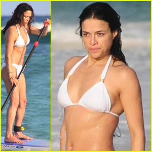 220f53e9122c31 Michelle Rodriguez Flaunts Hot Bikini Bod on NYE in Mexico   Bikini ...
