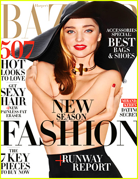 Miranda Kerr Goes Topless, Talks Dating & Relationship Roles with 'Harper's Bazaar'