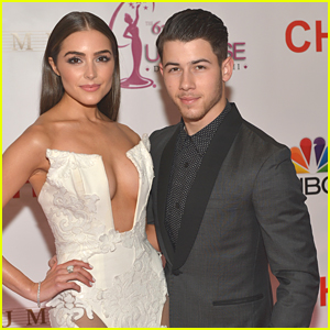 Nick Jonas' Girlfriend Olivia Culpo Turns Heads at Miss Universe 2015 in Cut Out Dress