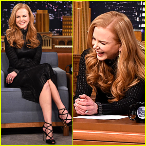 Nicole Kidman Gets Behind Jimmy Fallon's 'Tonight Show' Desk