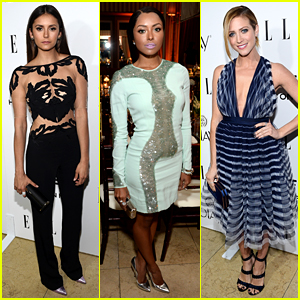 Nina Dobrev Stuns in Sheer Outfit at Elle's Women in TV Event