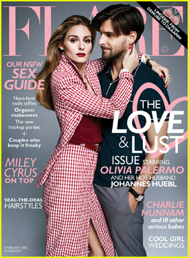 Olivia Palermo Gets Adoring Look From Husband Johannes Huebl on Flare's February 2015 Cover