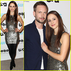 Patrick J. Adams Steps Out for 'Suits' Exhibition Opening in NYC with Fiance Troian Bellisario