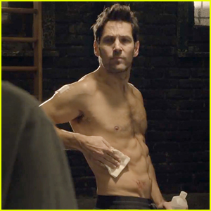 Paul Rudd Displays Ripped Six Pack Abs in 'Ant-Man' Trailer!