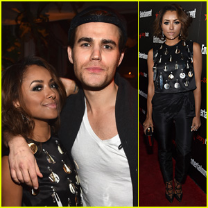 Paul Wesley & Kat Graham Buddy Up at EW's SAG Party 2015