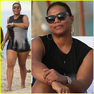 Queen Latifah Hits Miami Beach for New Year's Relaxation Time!
