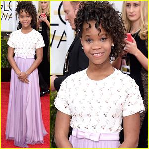 Quvenzhane Wallis Brings 'Annie' To Golden Globes 2015