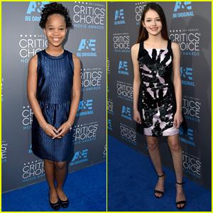 Quvenzhane Wallis & Mackenzie Foy Rep Young Actors at Critics' Choice Awards 2015