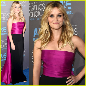 Reese Witherspoon Rocks Magenta Train at Critics' Choice 2015 After Oscar Nomination