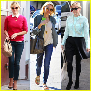 Reese Witherspoon Hangs Out with Naomi Watts & Laura Dern