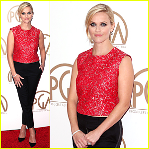 Reese Witherspoon Looks Red Hot at PGA Awards 2015
