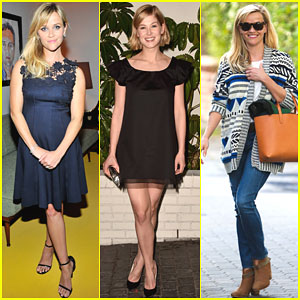 Reese Witherspoon & Rosamund Pike Are Blonde Beauties at W Mag's Pre-Golden Globes Party 2015