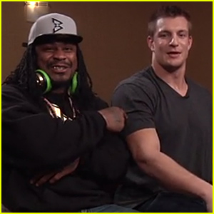 Rob Gronkowski & Marshawn Lynch Are Friendly Off the Field - Watch Their Video with Conan O'Brien!