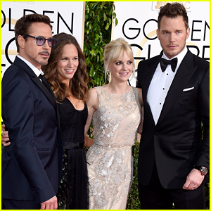 Robert Downey, Jr. & Chris Pratt Have a Marvel Superhero Meetup at the Golden Globes 2015!