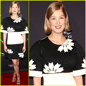 Rosamund Pike Attends Tea Party with Gone Girl's Gillian Flynn